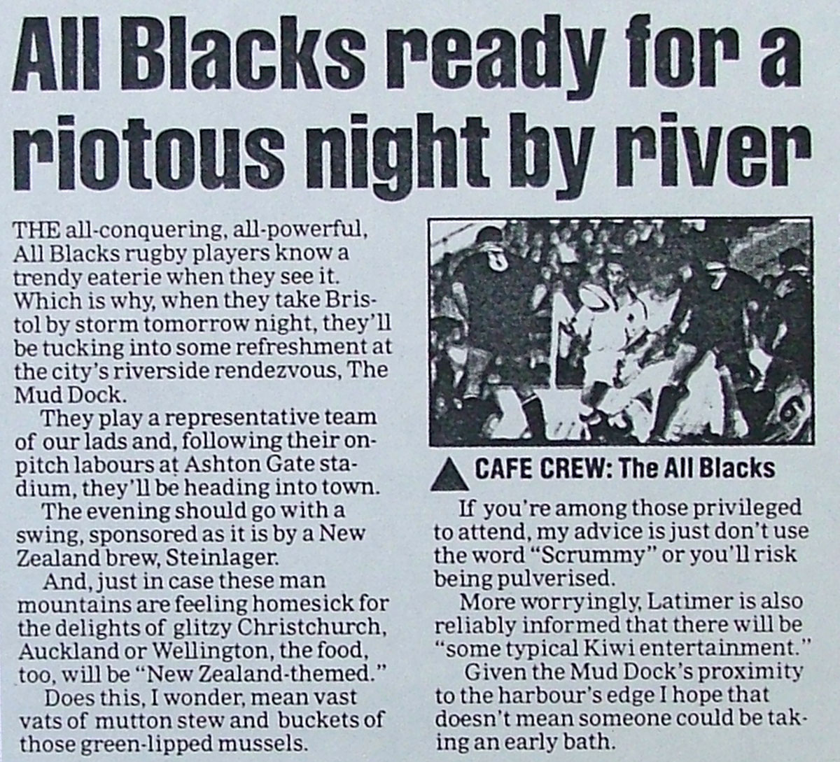 All Blacks article, 1997