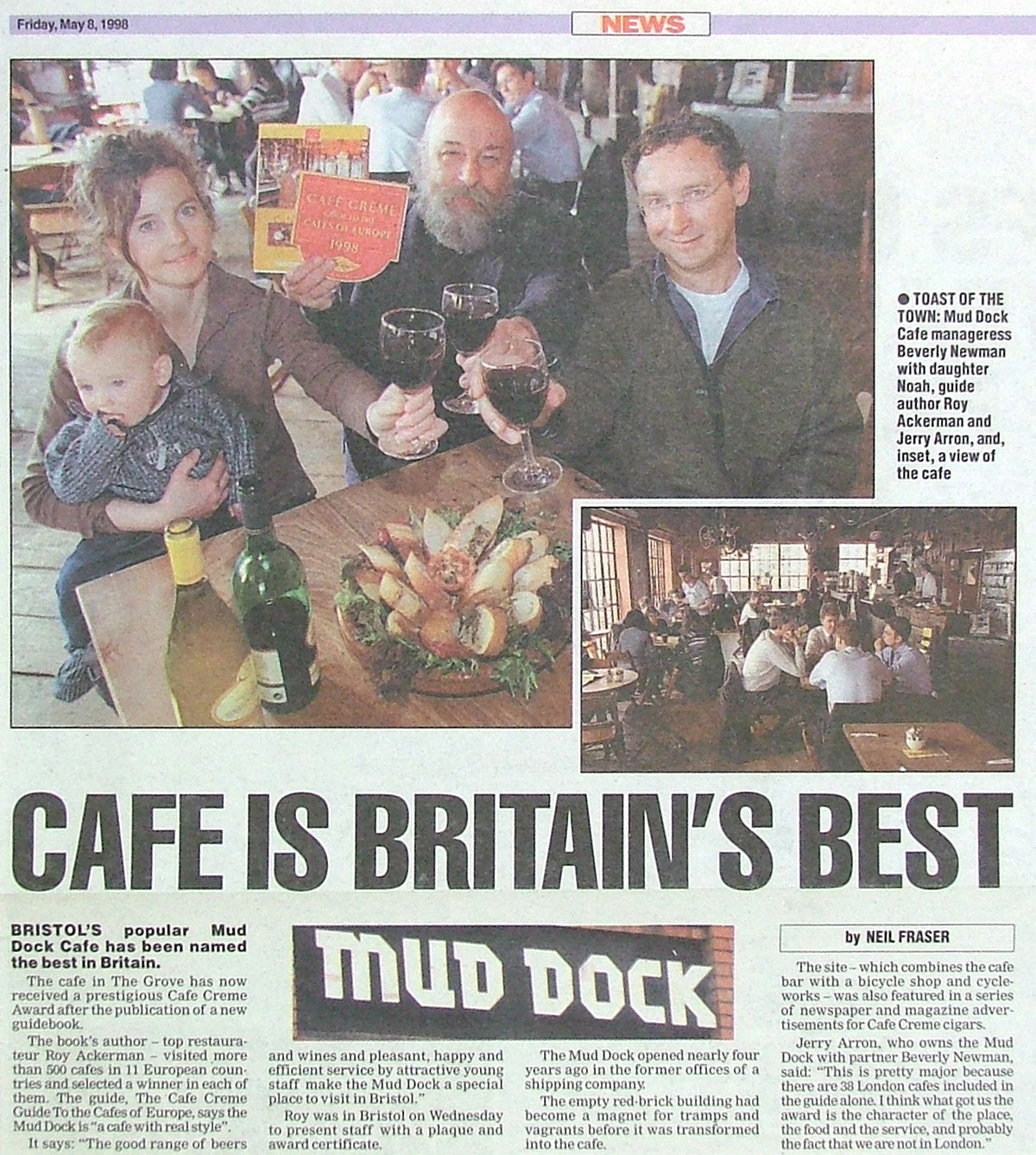Café of the Year 1998 article