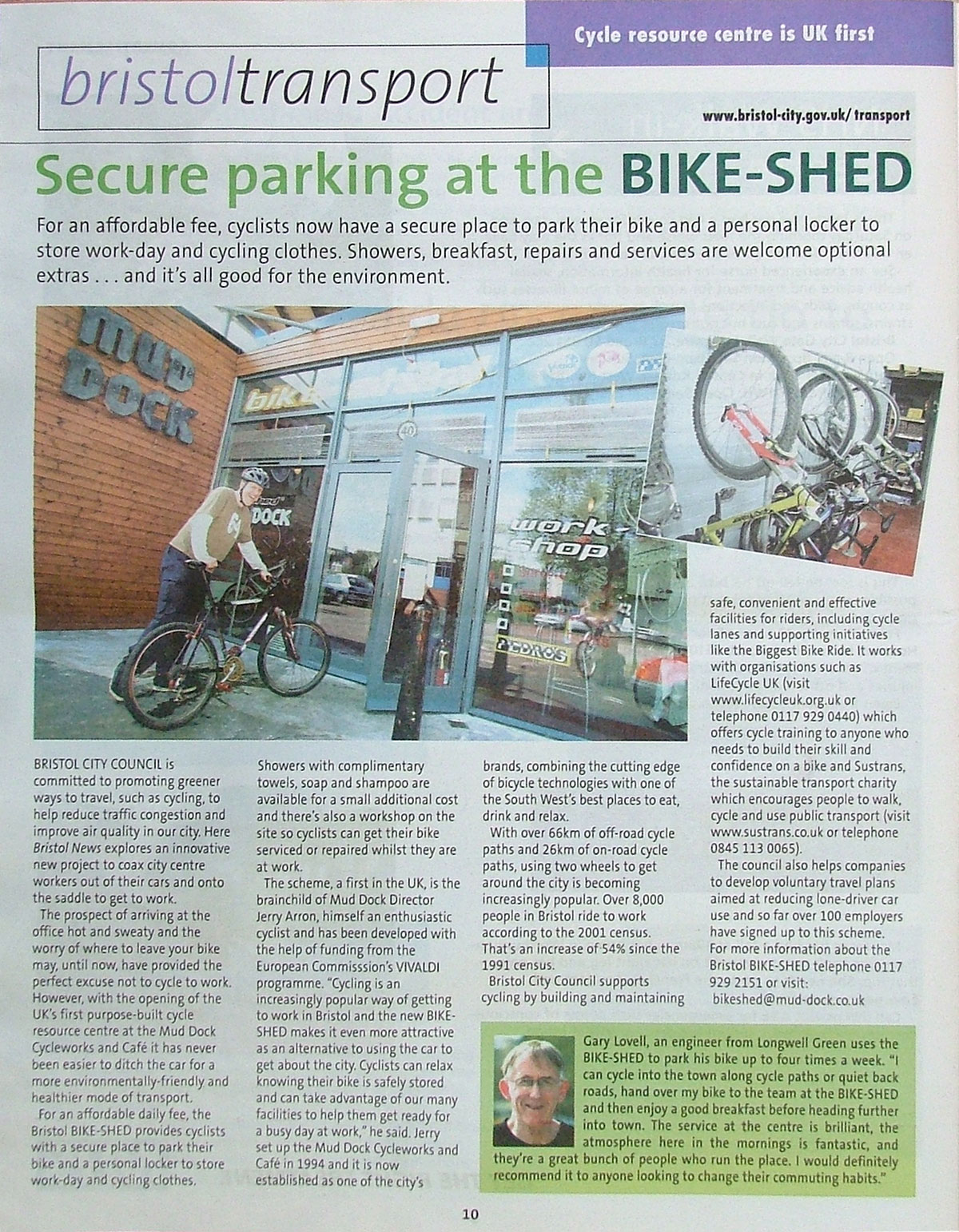 Bike Shed article, 2003