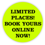Limited places! Book yours online now!