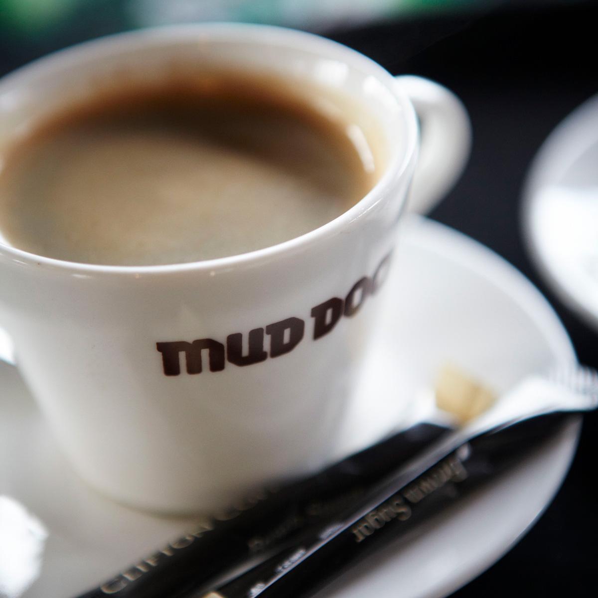 Mud Dock coffee cup