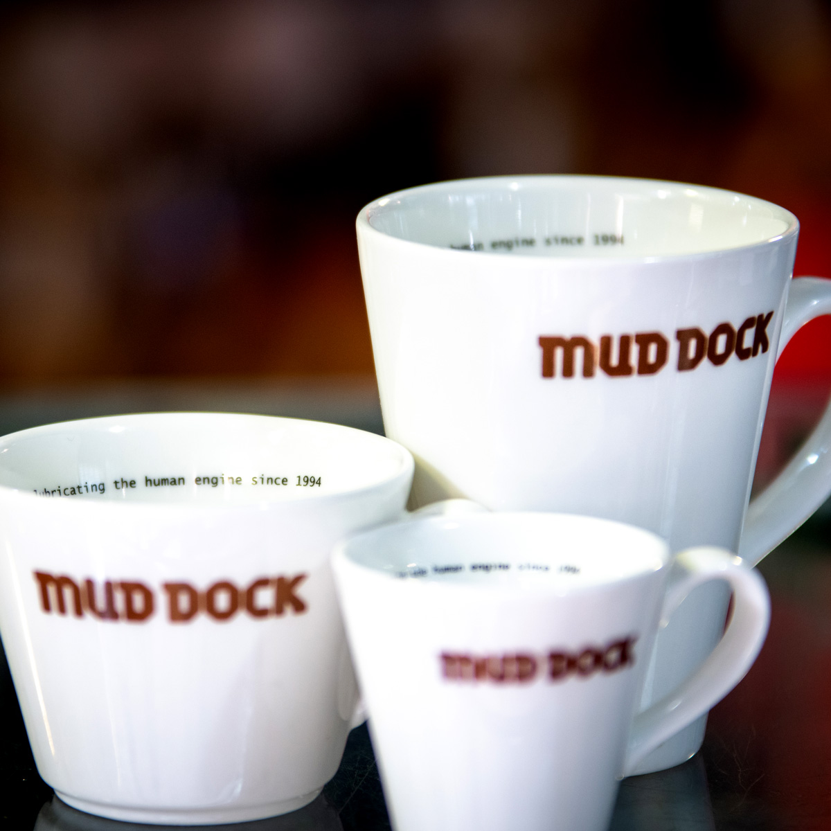 Mud Dock coffee cups